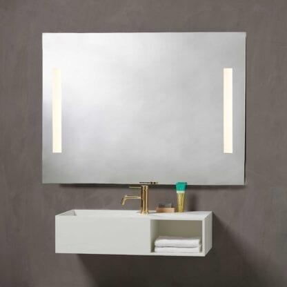 Godhavn baderomsspeil med LED lys H85xB120 cm | Illuminor as