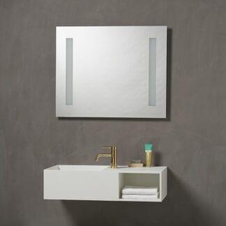 Kvilux speil med lys og bakgrunnsbelysning H 650 x B 1000