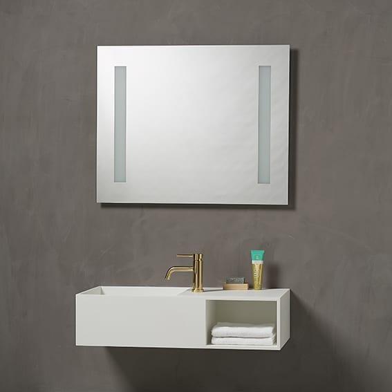 Kvilux speil med lys og bakgrunnsbelysning H 650 x B 800