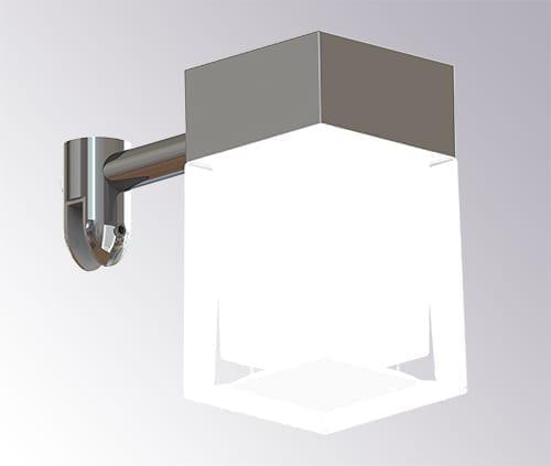 LED Speillampe for oppheng på speilkant