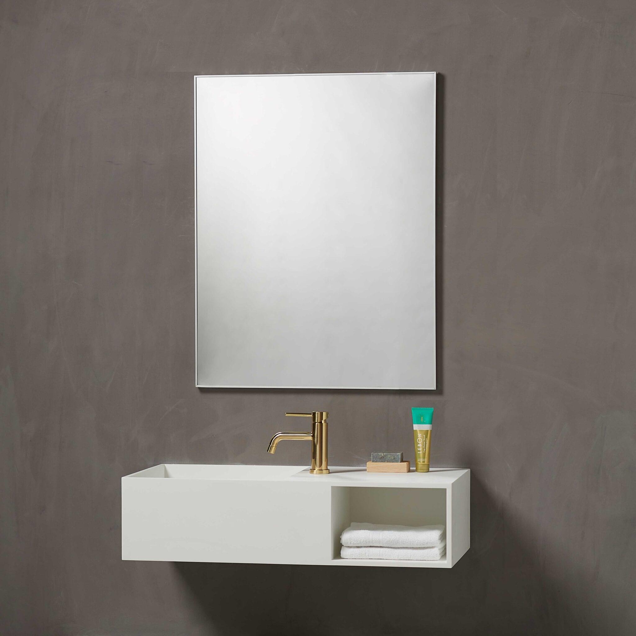Vienna speil med aluminiumsramme 800mm x 600mm x D 16mm   Illuminor as