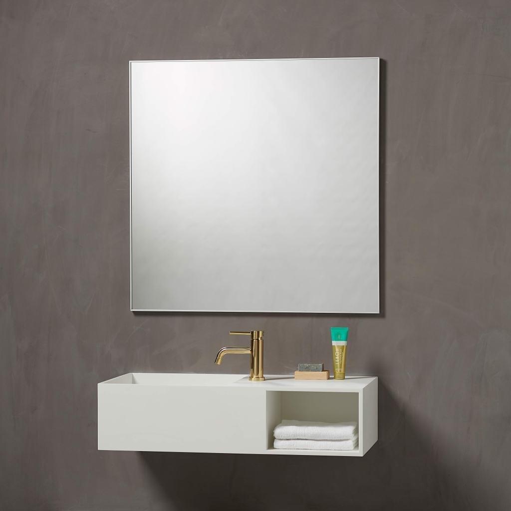 Vienna speil med aluminiumsramme 800mm x 800mm x D 16mm | Illuminor as