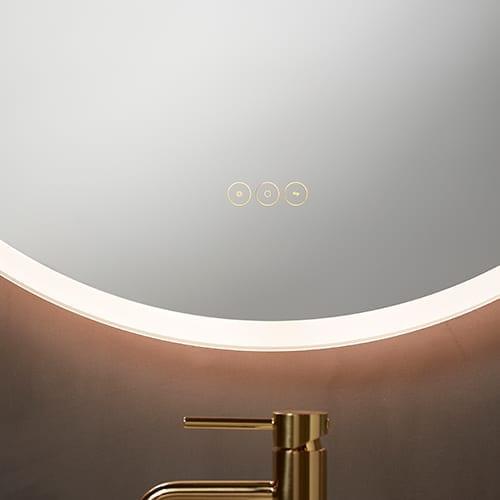 Baderomsspeil MultiWhite®rundt med lys 800mm | Illuminor as