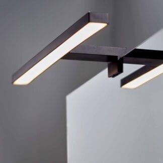 Lagan NextGen LED Speillampe Sort 500mm 5,4W